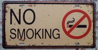 Wholesale Metal Sign Tin Poster Vintage NO SMOKING Public Places Wall Decor Retro Art Poster x30cm CP641