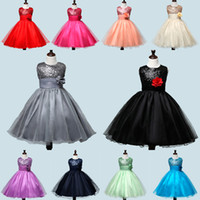 beach ball costume - Hot Sale Children girls kids princess dress Solid color sequins floral tutu dress party dresses Costumes birthday clothes