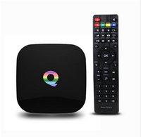 best usb internet - Neweat GB GB Q Box Android TV Streaming Media Mini PC New G Box K Quad Octo Core Internet TV Box fully loaded Kodi XBMC Best TV Box