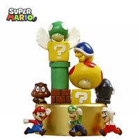 Wholesale 2016 High Quality NEW Plastic Super Mario Bros PVC Action figures Life style super Mario Dolls toys