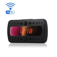 Cheap Mini Hidden Wifi Clock Camera 1920x1080 CMOS Video Nanny IP Camera Clock Support IR Night Vision real-time recording with APP Remote Control