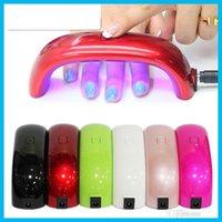 Wholesale 2016 Hot Mini Rainbow Nail Art Lamp W LED Light Bridge Shaped Mini Curing Nail Dryer Nail Art Lamp Care Machine for UV Gel USB Cable