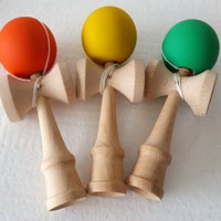 Wholesale Wood Game Toys Big Kendama Ball Japanese Traditional Wooden Toys Traditional Wood Game Toy Education Gift Children Toys Colors Available