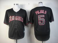 albert black - Los Angeles Angels Cool Base Mens Jerseys Albert Pujols Black Baseball Jersey Stitched Name And Number Mixed Orders