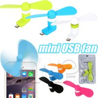 Wholesale For Samsung S4 S7 Mini USB Fan Pin Flexible Portable Super Mute Cooler Cooling For Android Phone Iphone S Plus Color With Package