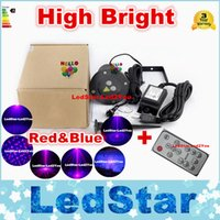 Wholesale Starry Stage Light - Outdoor Waterproof IP65 LED Red&Blue Laser Stage Projector Show Light Stage Starry Effect Light Garden Landscape Decoration Lamp AC 85-265V