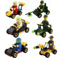 assemble toy car - 30pcs PLANE cars minifigures Kids building Blocks DIY Assembles Particles Bricks block cars kids toys