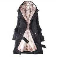 Wholesale Hot New Hooded Women s Fur coats Winter With Faux Fur Ling Long Coat women s Outerwear women s clothes plus size women jackets T06