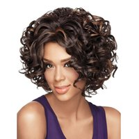fashion hair short wig - Western style short curly hair wigs Synthetic Wigs fashion Serious stars hairstyle Factory direct sale