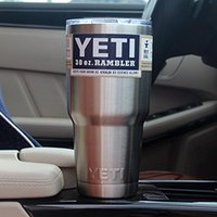 beer spoon - Yeti oz Rambler Tumbler Bilayer Stainless Steel Insulation Cup OZ Cups Cars Beer Mug Large Capacity Mug Tumblerful