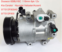 Wholesale DOOWON SBU16C DV13 A C Compressor for Kia Cerato Hyundai Veloster Accent F800AS F800