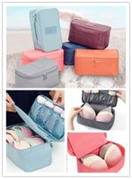 Wholesale Women Girl Multifunctional Travel Cosmetic Makeup Bag Toiletry Wash Storage Case Underwear Bra Organizer Box Portable Makeup Bag New Arrival