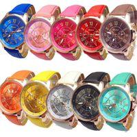 band numerals - Women Fashion Geneva Roman Numerals Faux Leather Band Analog Quartz Wrist Watch