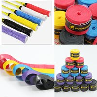 Wholesale 7 Color Grip Original Extra Long Overgrip Anti Slip Tacky Tennis Racquet Overgrip Assorted Colors Sweat Absorption Free DHL E577L