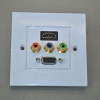 audio wall plate - 86 panel HDMI av lotus VGA panel HDMI socket panel VGA panel rca audio and video wall plug plate