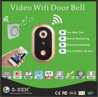 bell support - Video Door Phone WIFI Doorbell HD P IP Door Camera P Wireless Intercom Video Alarm Door Bell Support IOS Andriod