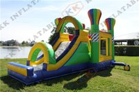 air castle inflatables - Hot Air Balloon inflatable balloon bouncy castle bounce house with slide combo