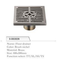 Wholesale Brass Floor Drainer mm Shower Floor Drain Grate Brush nickel X D8302N