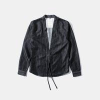 Wholesale Fall NEW Vintage Japan Harajuku Kimono Casual Men Jacket Denim Style Judo Jean Jacket Men Brand Clothing Fear of god