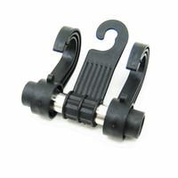 Wholesale Convenient Double Vehicle Hangers Auto Car Seat Organizer Headrest Shop Bag Hook Holder Black Zone Tech Coat