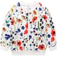 Wholesale 2016 new arrival spring Autumn girl coat o neck outwear zipper printing Windbreaker Flower children clothing T T