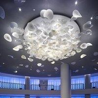 banquet hall - Round simple modern leaf glass leaf ceiling banquet hall lobby foliage ceiling ceiling light works