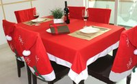 Wholesale Tablecloth Christmas decoration red Table cloth square flannel cm dining table covers Banquet Holiday xmas ornament