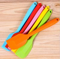 Wholesale Cake Cream Butter Spatula Mixing Batter Scraper Brush Silicone Baking Tool Cook Brand New Good Quality