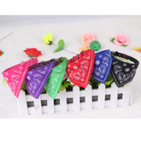Wholesale New Brand Cute Pet Dog Cat Puppies Triangular Bandage Pet Dog Collars Scarf Neckerchief Dog Accessories Colors b135