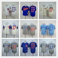 Wholesale Men Chicago Cubs Kris Bryant Baseball Jerseys Throwback Cream White Army Green Blue gray From China Top Quality