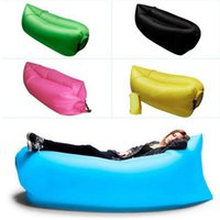 Cheap Fast Inflatable Lamzac Hangout Lounger Air Sleep Camping Sofa KAISRa Beach Nylon Fabric Sleeping Bag Bed Lazy Chair ourdoor