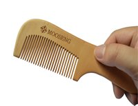 Wholesale MOOSENG Wooden Comb Hair Care Anti Static Wooden Hair Massage Natural Brush Beard Comb