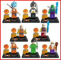 anime puzzle games - Dragon Ball Z Building Block toy DIY Anime puzzle game figure Doll Minifigures educational toys children birthday gifts