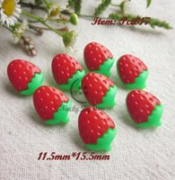 baby quilt material - 120pcs red strawberry buttons baby sweater buttons decoration sewing accessories and handmade diy craft materials