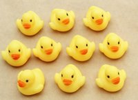 Wholesale 500pcs Baby Bath Water Duck Toy Mini Yellow Rubber Ducks Funny Sound Children Swimming Bath Toys Kids Beach Gifts