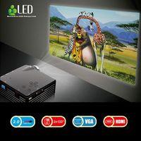 Wholesale Home Cinema Theater Multimedia LED LCD Projector HD P PC AV TV VGA USB HDMI TV mini projector led projector