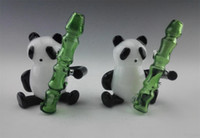Wholesale 2016 glass somking pipes Panda Pyrex borosilicate glass smoking pipe factory price glass bong