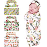baby blanket shipping - Infants Blankets Winter Warm Blankets Flowers printed infant Swaddling cartoon baby bed sheet Sleeping Bag with hat