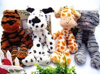 baby comforters wholesale - 80pcs cm British Cute Animals Plush Toys Staffed Giraffe Tiger Cat Dog Dolls Kids Baby Calm Doll Comforter Toys Gifts