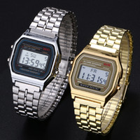 Wholesale Brand F W watches Fashion Ultra thin LED Wrist Watches F91W Gold Silver Men Women Sport Watches