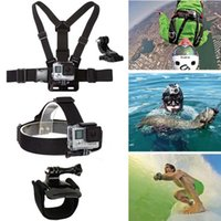 Wholesale 2016 new Chest Head Mount Rotation Wrist Hand Strap Band Acessories For Gopro Hero sports Cameras chest belt monopod kit Wrist Strap