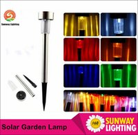Wholesale LED Solar Lamps Waterproof Outdoor LED Solar Lights Stainless Steel LED Landscape Garden Path Light Garden Solar Light Lawn Light