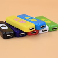 abs gas - Cigarette Lighters USB Rechargeable Battery Electronic Cigarettes Lighter Flameless No Gas Fuel ABS Flame Retardant Plastic