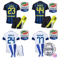 Wholesale 2016 Inter soccer Jerseys Home Away soccer jersey ICARDI JOVETIC PERISIC Milan Football suit socks