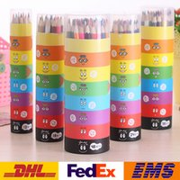 Wholesale DHL Color Pencil Children Baby Painting Pens Graffiti Art Pencil Kids Colored Drawing Pencils Wooden Coloring Books WX P01