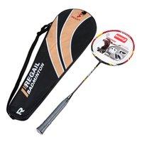 Wholesale 1Pcs Carbon Fiber Aluminum Alloy Training Badminton Racket Racquet with Carry Bag Sport Equipment Durable Lightweight order lt no track