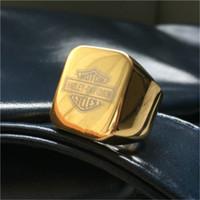 Precio de Venta caliente de la motocicleta-2pcs más nuevo anillo del motorista Diseño plateado oro del color de motocicletas anillo de acero inoxidable 316L del estilo del motorista para hombre vendedor caliente del oro