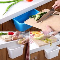 Wholesale New Home Kitchen Waste Cupboard Doors Hanging Plastic Storages Box Vegetables Fruit Peels Rubbish Office Organizer