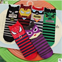 adult sports leagues - Cartoon Lovers Socks New Spider Man Stripe Women Sock Autumn League of Legends Fashion Adult Stocking Big Boys Sports Socks W324