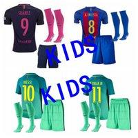 barcelona home shirt - 2016 Barcelona home jerseys AWAY kids shirt babe boys